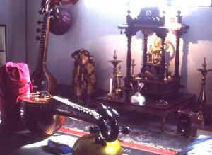 Prof. R. Visweswaran's music studio